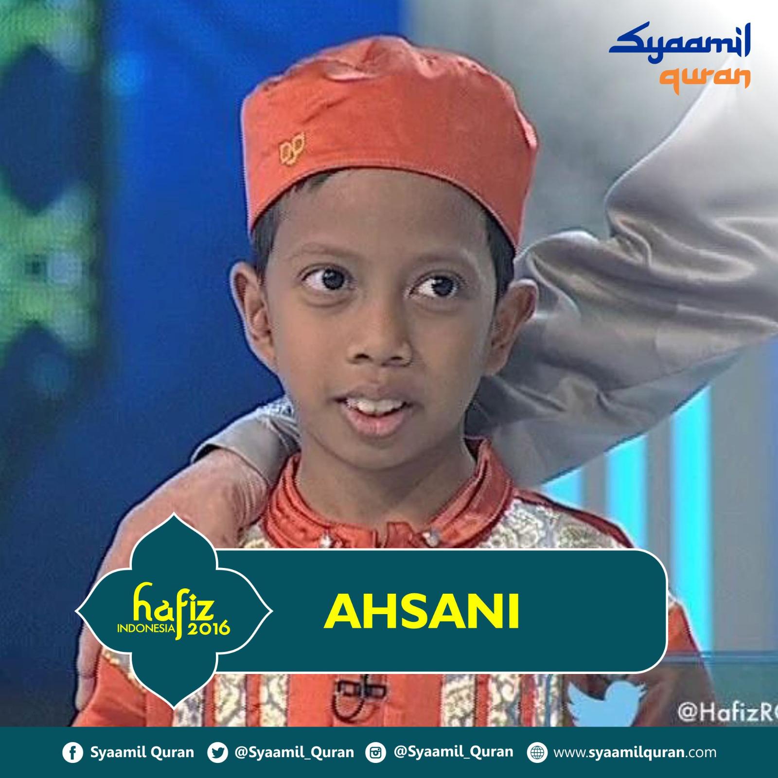 Ahsani - Hafiz Indonesia 2016