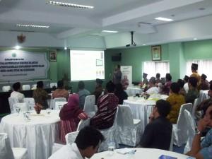Direktur Marketing Sygma CMC, M. Kh. Rachman saat presentasi Syaamil Digital