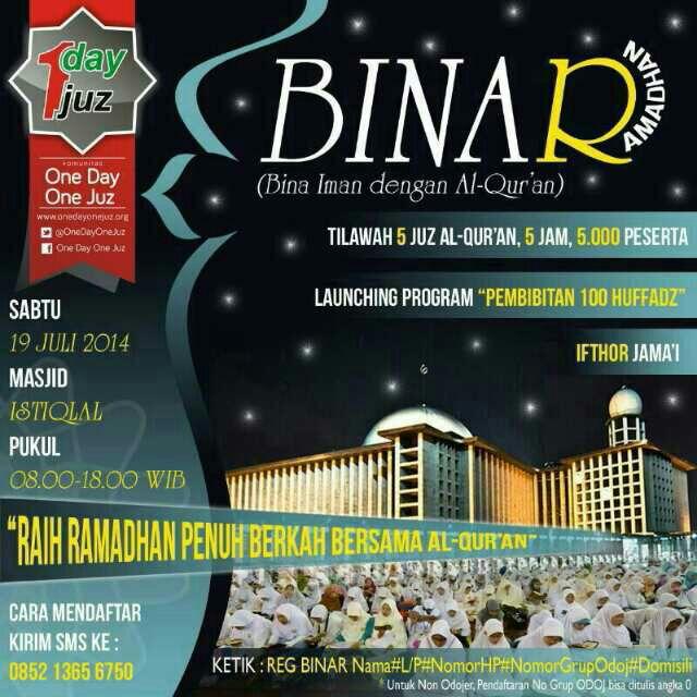 Komunitas ODOJ Gelar BINAR Ramadhan