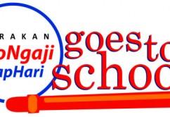 Logo #AyoNgajiTiapHari goes to school